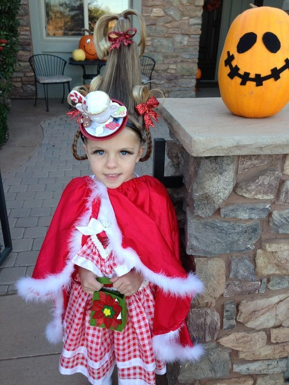 Diy Grinch Cindy Lou Who Costume Kids Grinch Costume