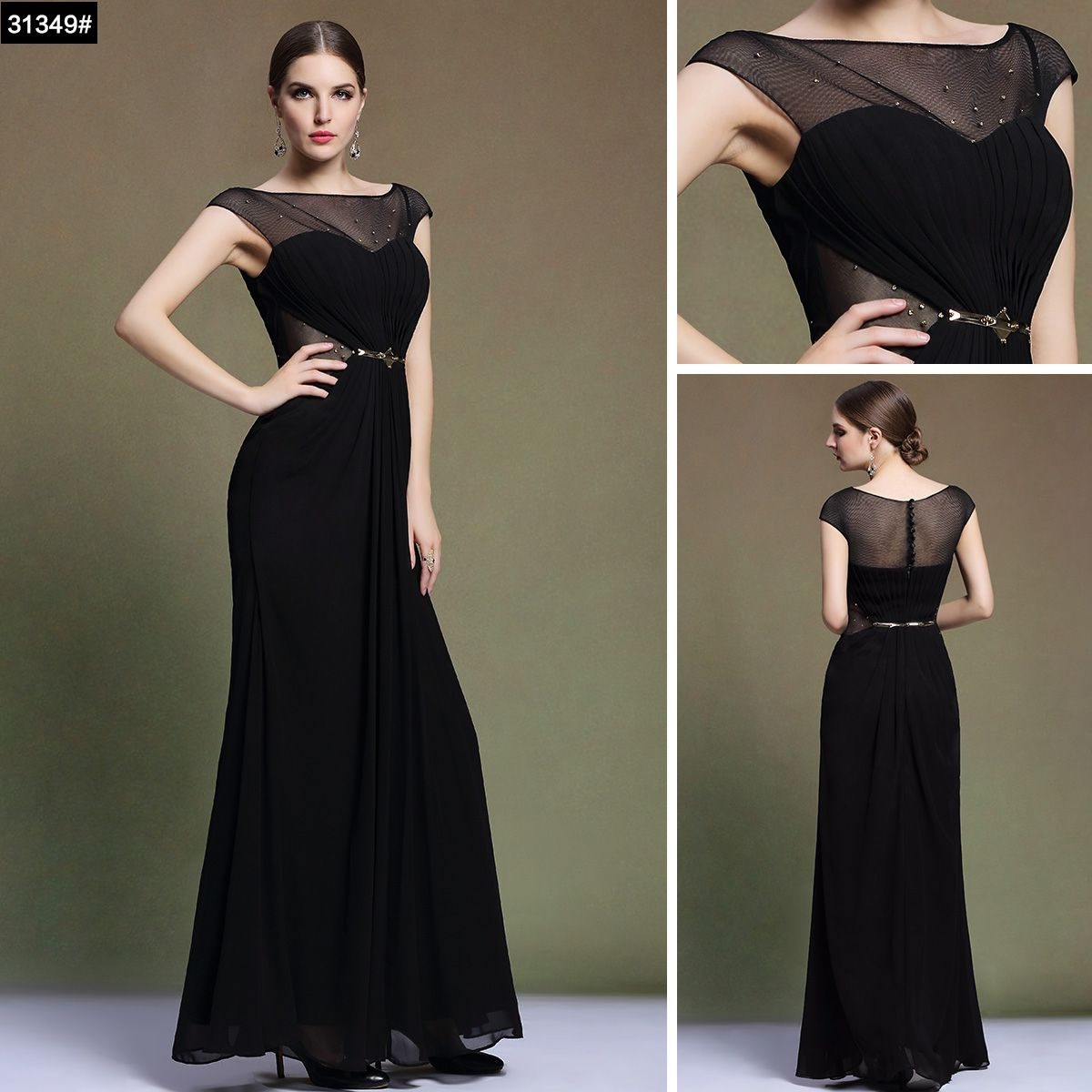 Evening Dress Black Sale UK