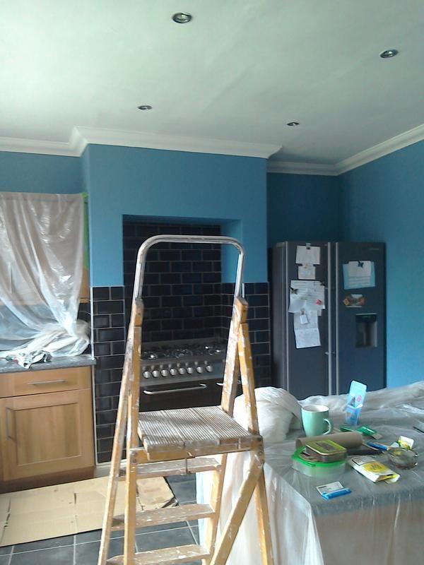 Dulux kitchen stonewashed blue matt emulsion paint 2 5l for Dulux paint kitchen ideas