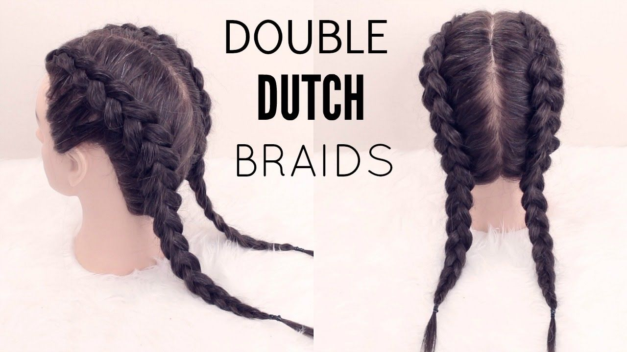 How To Double Dutch Braid Hair Tutorial Youtube With Images