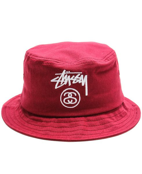 Stussy - Stock Lock Bucket Hat (Burgundy) -  28  6b7e62f5d96f