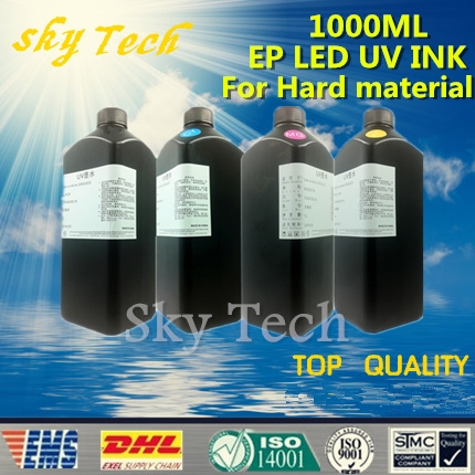 180.00$  Buy here - http://alin04.worldwells.pw/go.php?t=32598189941 - 1000ML*4   LED UV INK , BK C M Y , UV ink  FOR Epson printhead Uv printer .for hard materials
