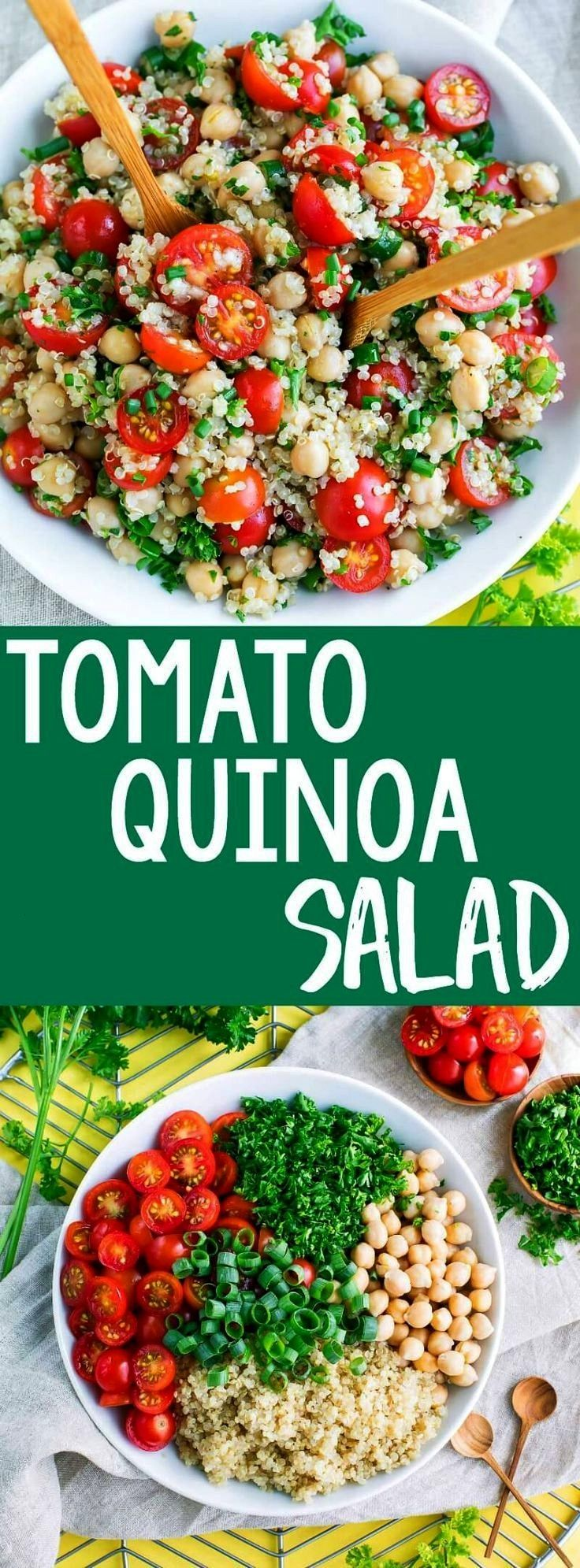Quinoa Salad Its time to add another tasty quinoa recipe to our meal prep game! This Tomato Quinoa