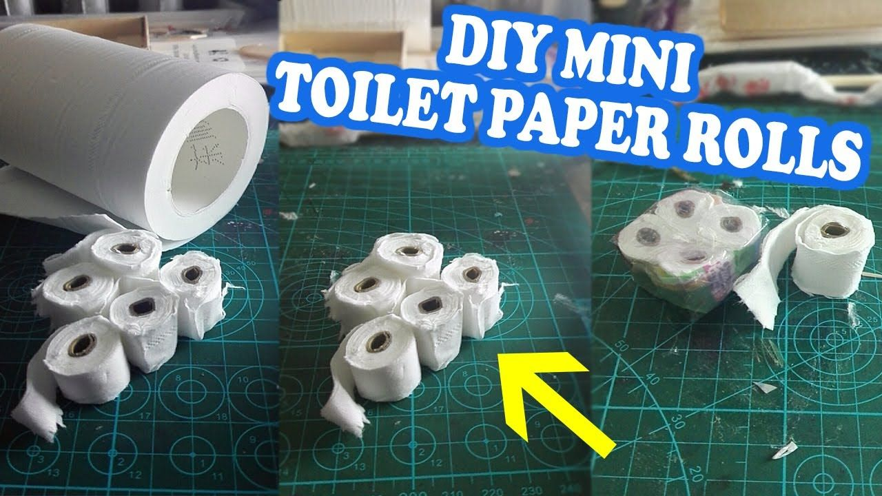 How to make Miniature Toilet Paper Rolls in 2020 Paper