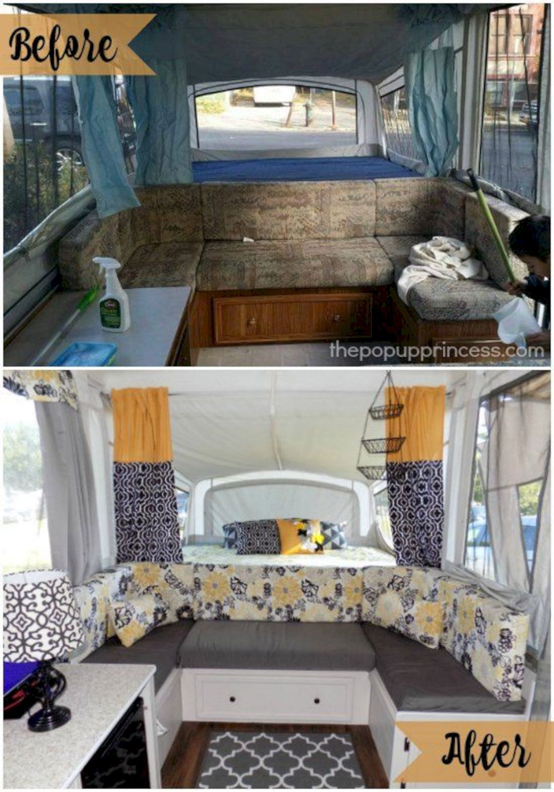 42+ Amazing RV Camper Makeover Ideas Before And After Collections ...