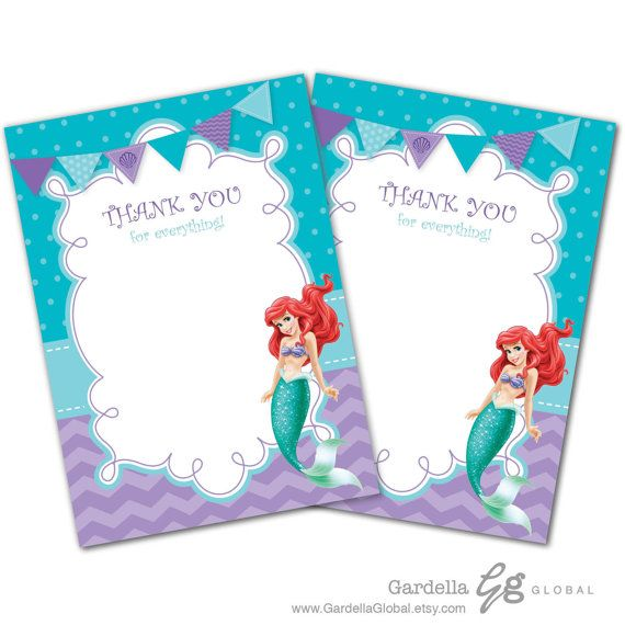 Little Mermaid Invitation Little Mermaid Invite Ariel