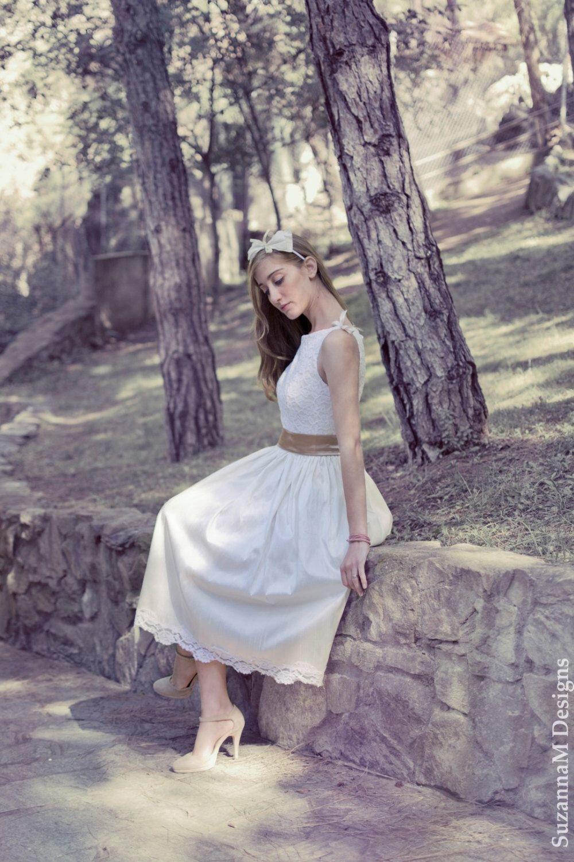 Short Wedding Drees, Bridal Dress, Ivory Wedding Dress, 50s Wedding ...