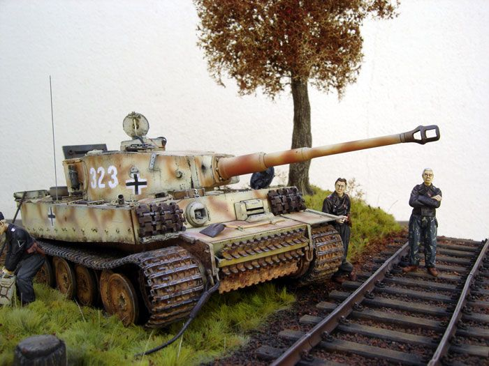 Tiger I Eastern Front by Frederic Mouchel (Tamiya 1/35) #dioramaideas