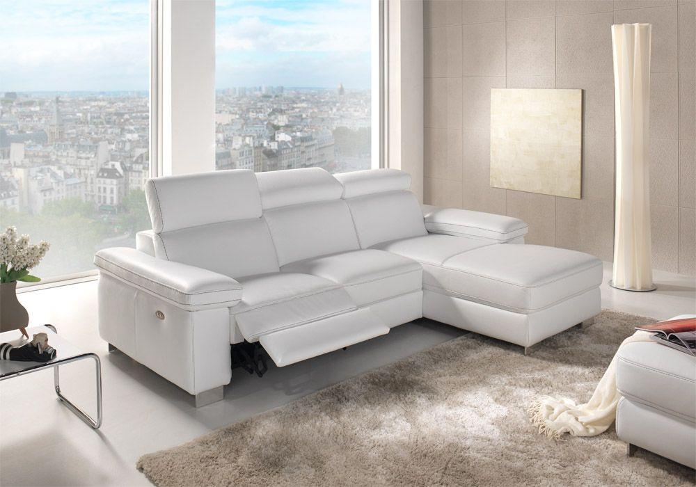 Zetel Met Relaxfunctie.Super Moderne Witte Zetel Van Bardi Met Relaxfunctie Stijlvolle