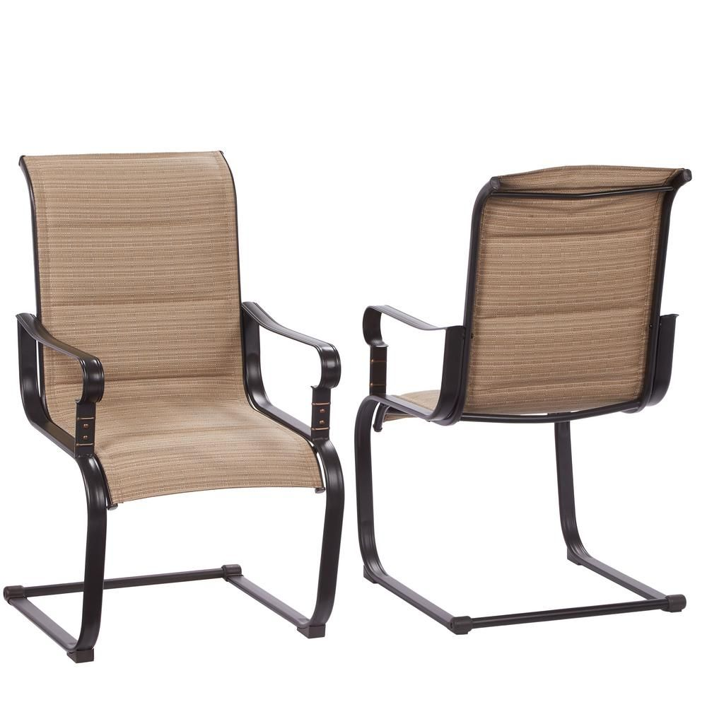 sling motion patio chairs medical waiting room belleville rocking padded outdoor dining 2 pack for