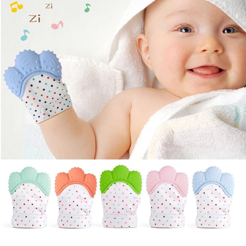 Green Silicone Baby Teething Glove Mitten for Sore Gums,Cutting Teeth /& Soothing Pain