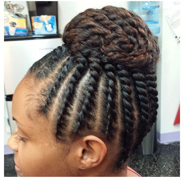 Flat Twist Updo With Images Flat Twist Updo Natural Hair