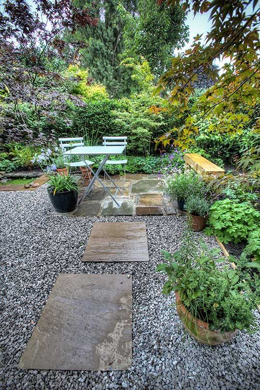 Seating Area With Gravel