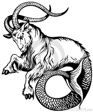 Sticker decal zodiac astrological astrology vinyl moutain sea goat capricorn