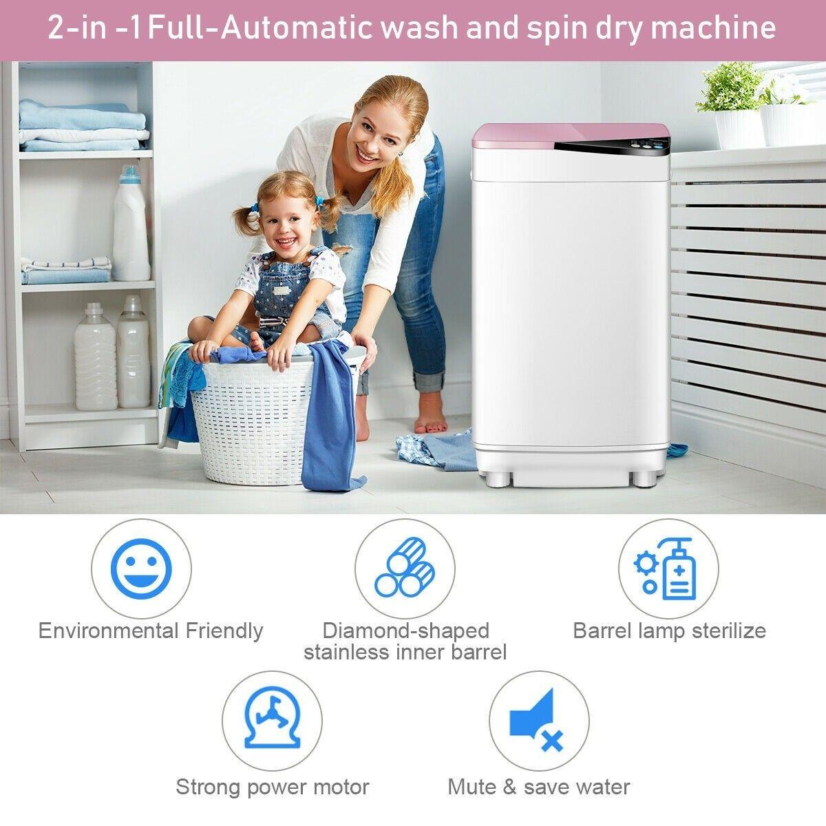 Fullautomatic washing machine 77 lbs washer spinner