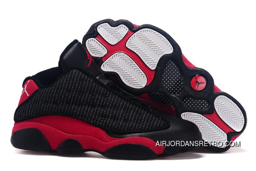 c931253ba660 Air Jordan 13 Low Black Red For Mens Super Deals in 2019