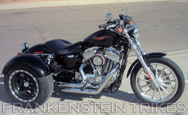 Harley Davidson Sportster Trike Kit Frankenstein Trikes Customer Photos Trike Kits Harley Davidson Trike Harley Davidson