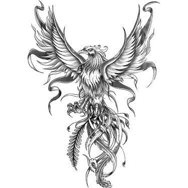 phoenix tattoo design tattoo art drawings pinterest. Black Bedroom Furniture Sets. Home Design Ideas