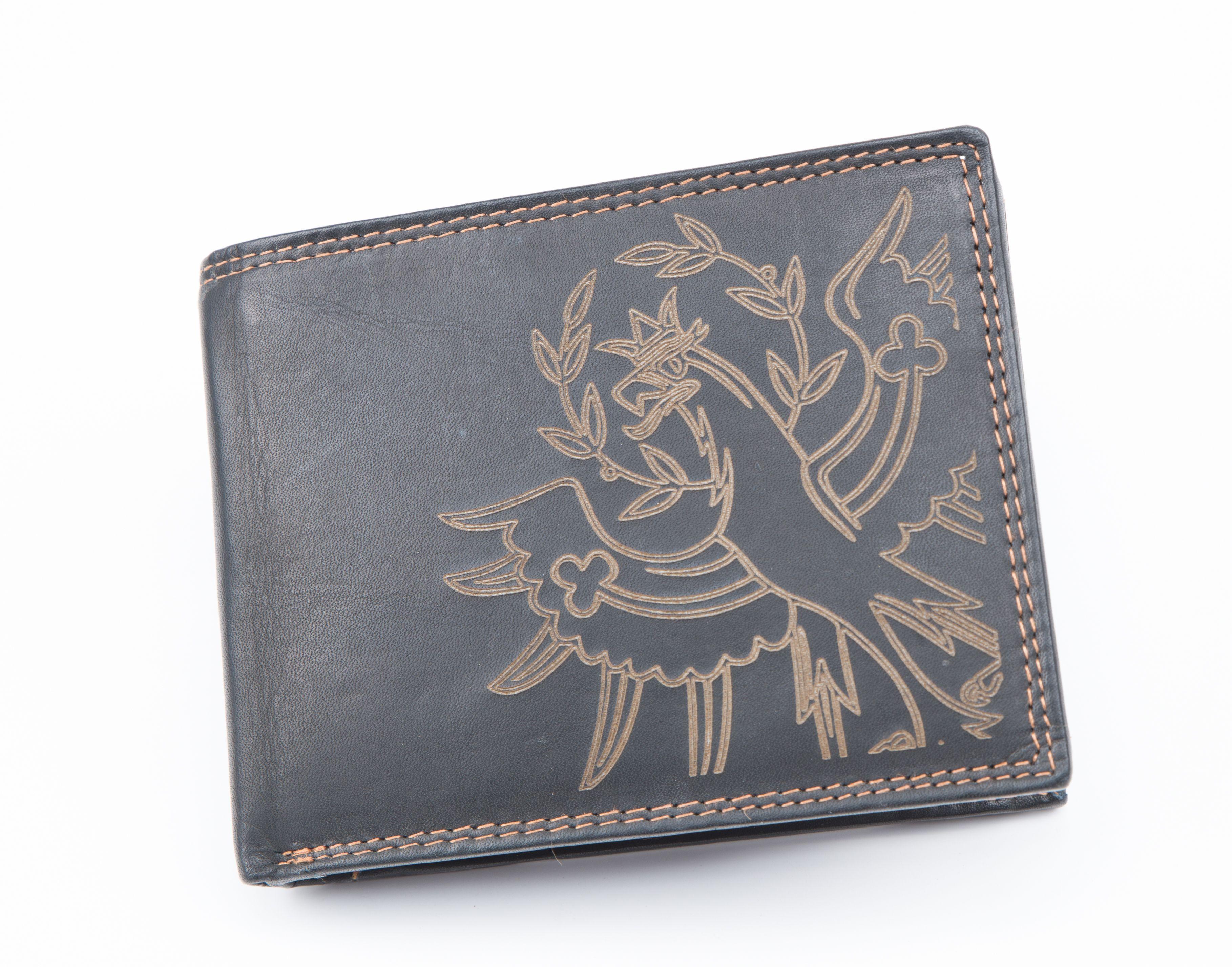 Geldbörse mit Adler  Laserbeschriftung erhältlich unter www.td-erler.at