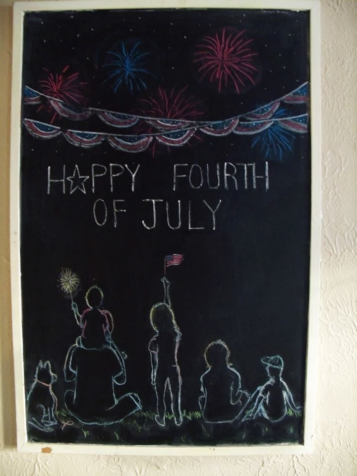 july 4th chalkboard art