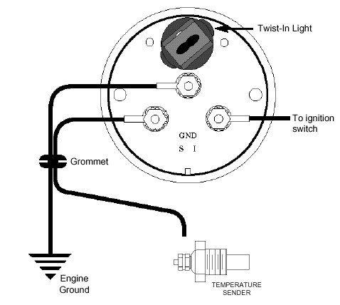 Temperature Gauge Wiring Diagram | Trailer light wiring, Gauges, Electrical  diagram | Temperature Wiring Diagram |  | Pinterest