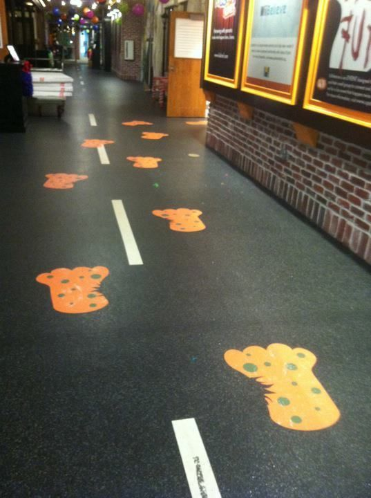 Large Monster Feet Floor Graphics Signage Amp Printing