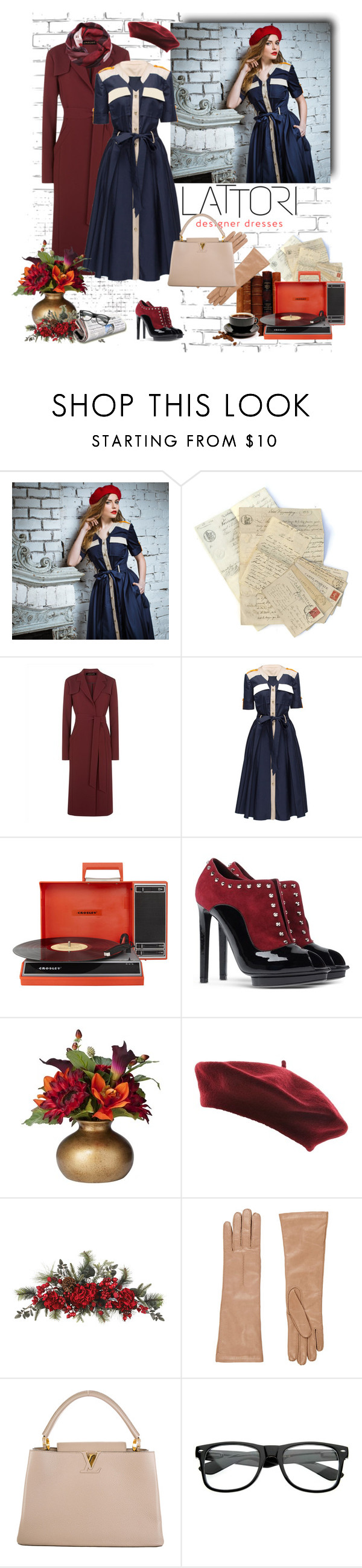 """Lattori"" by murenochek ❤ liked on Polyvore featuring moda, Lattori, Jaeger, Crosley, Alexander McQueen, Threshold, Nearly Natural, Barneys New York, Louis Vuitton y Good & Co"