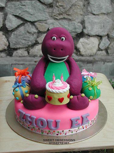 Cool Barney cakes Food ideas Pinterest Barney cake Cake