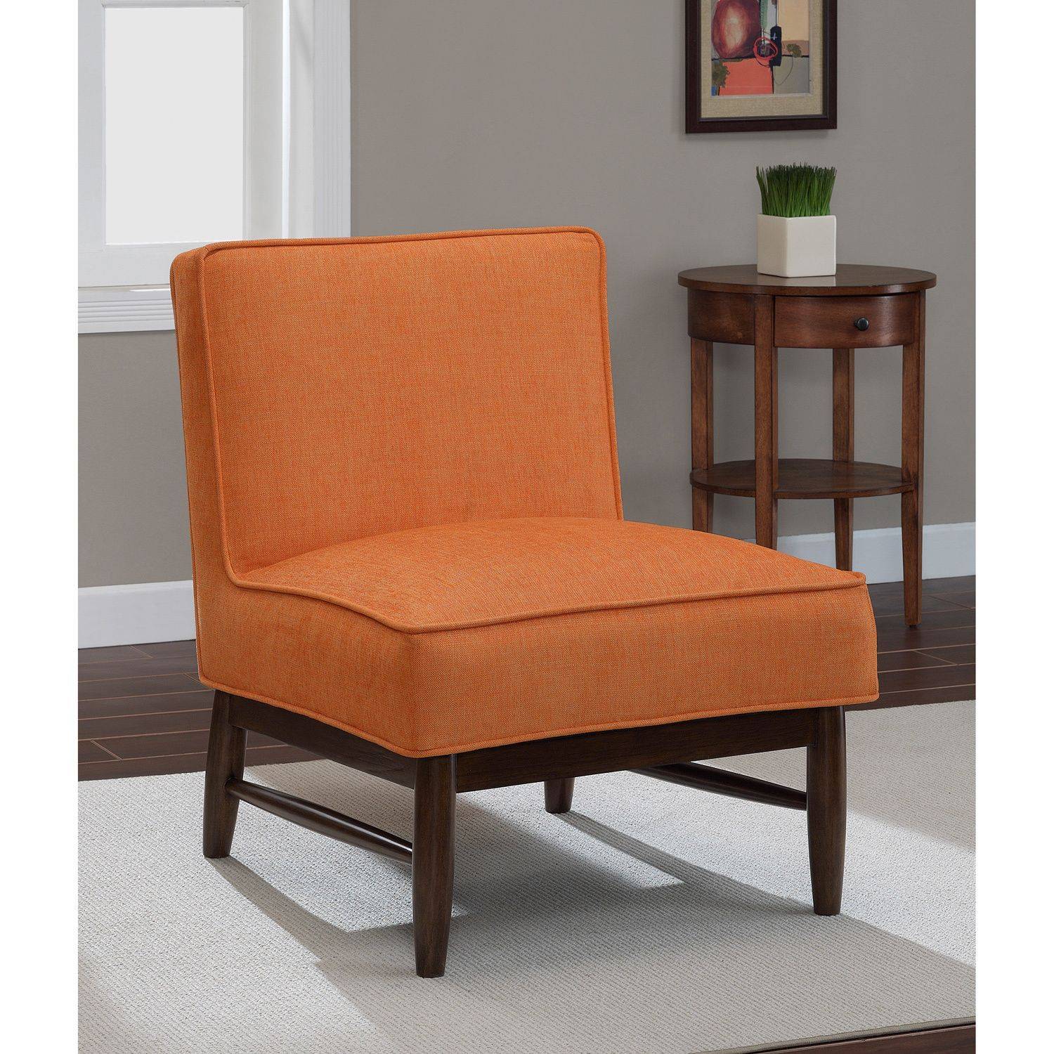 Good Ella Orange Crush Slipper Chair   Overstock™ Shopping   Great Deals On  Living Room Chairs