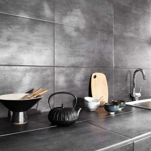 Carrelage Mural Et Sol Cuisine Les Nouveautés Tendance - Credence carrelage grand format pour idees de deco de cuisine