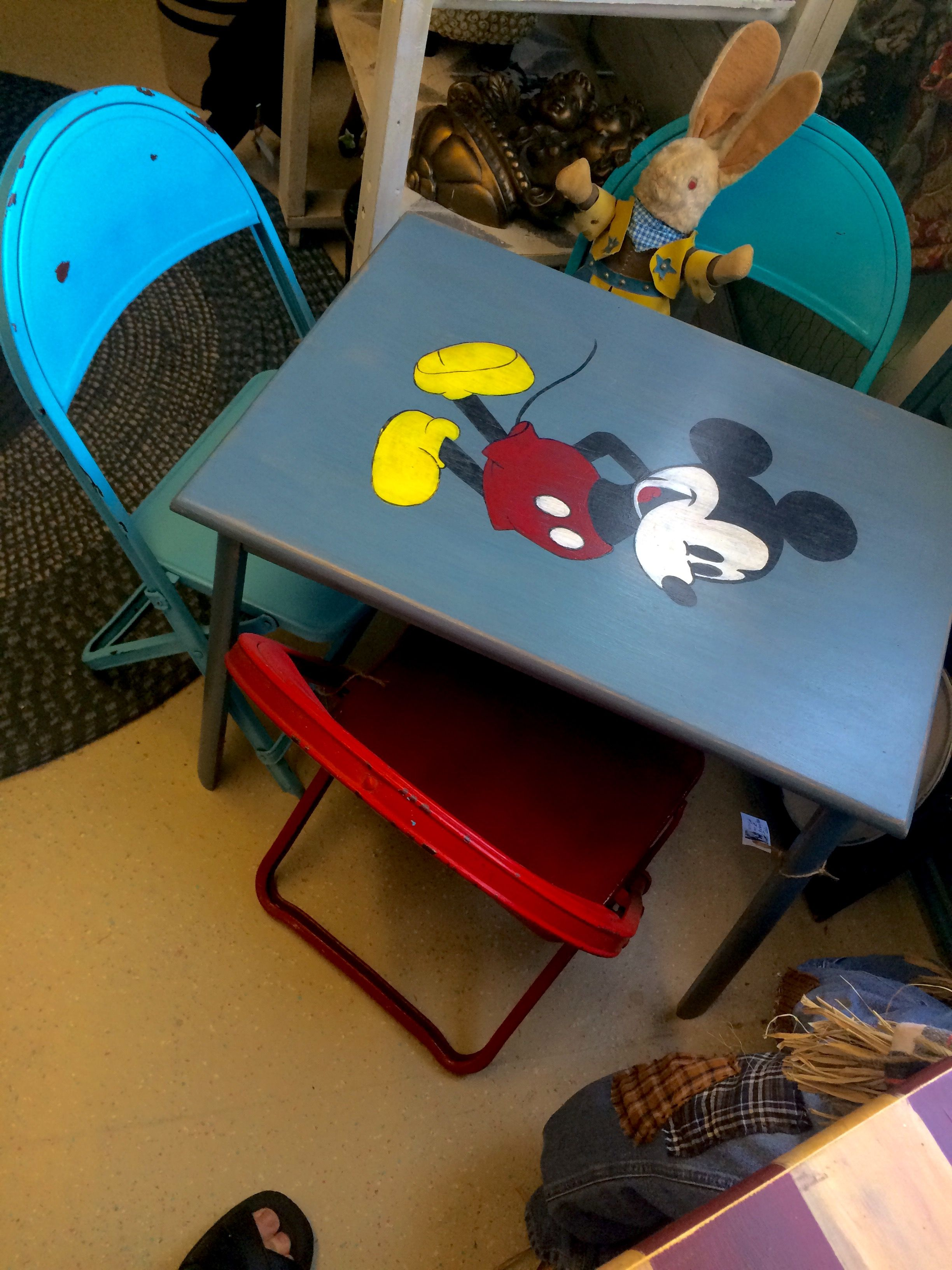 Mickey Mouse table - Cat Knapp   Cat Knapp Primitive works ...