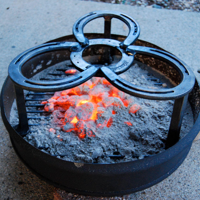 Camping trivet dutch oven cooking grate cast iron pot for Cast iron dutch oven camping recipes