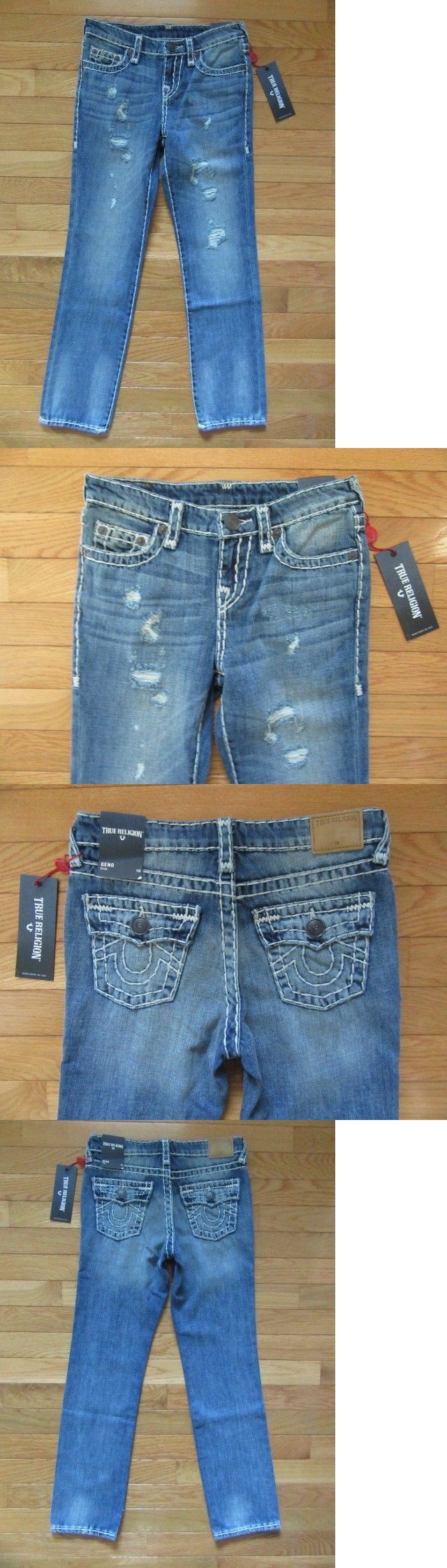b004e55ee Jeans 175658: True Religion Boys Geno Super T Jeans, Muddy Blue, Tr917jn13,  Nwt$129, 10 -> BUY IT NOW ONLY: $59.99 on #eBay #jeans #religion #super # muddy