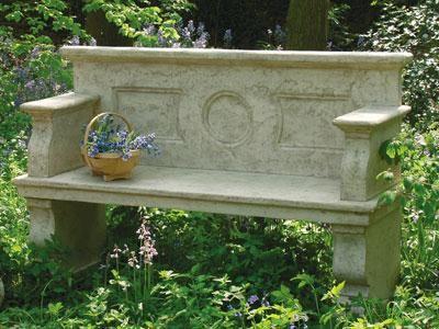Stone Effect Garden Bench