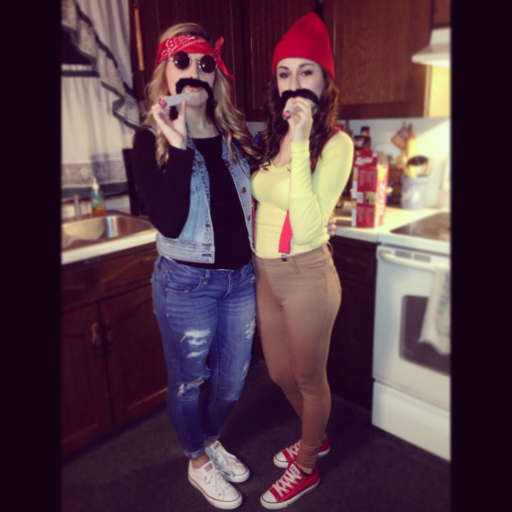 Cheech and Chong Halloween Costumes . Super easy to throw together ...