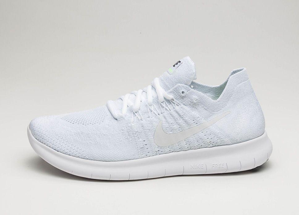 Nike Free RN Flyknit 2017 (White   White – Pure Platinum – Black ... 45e0b08f09ae4