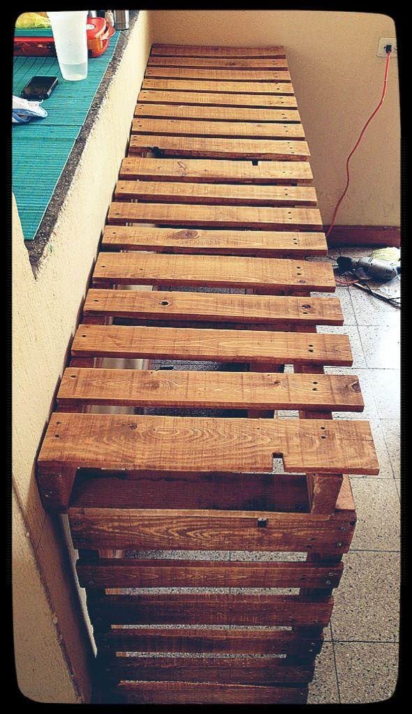 Mesa de trabajo para cocina de metros my palets - Mesas de trabajo cocina ...