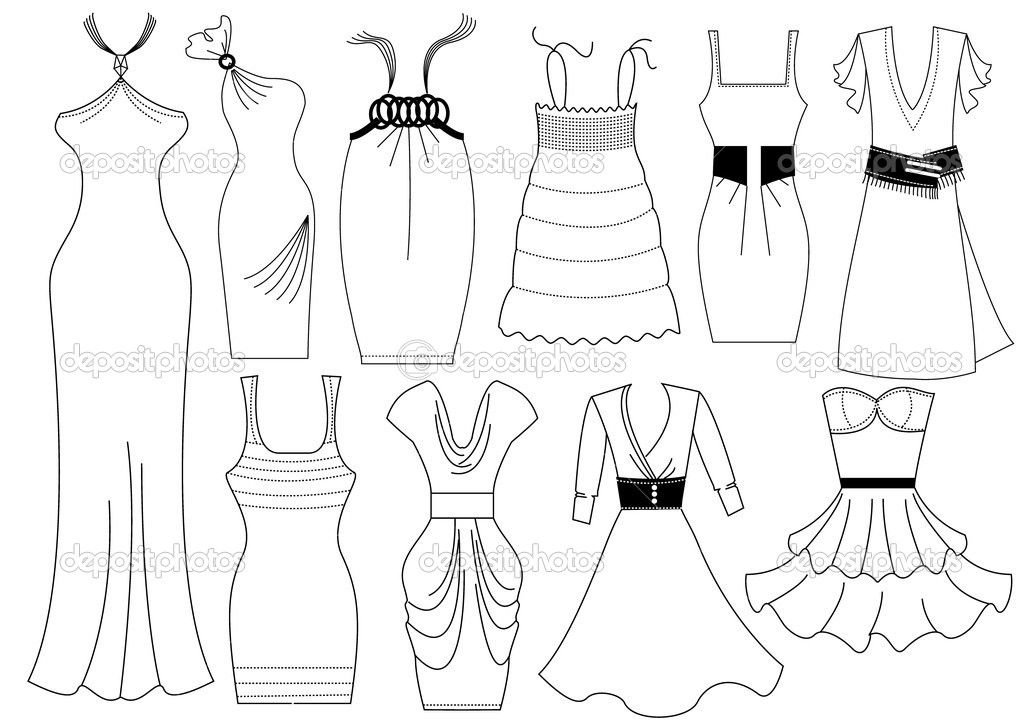 Design Clothes Coloring Pages Fashion Design Template Fashion Drawing Colorful Fashion