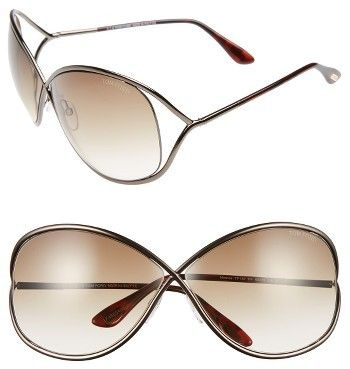 bc389cf69bc26 Women s Tom Ford Miranda 68Mm Open Temple Oversize Metal Sunglasses -  Bronze -  415 http
