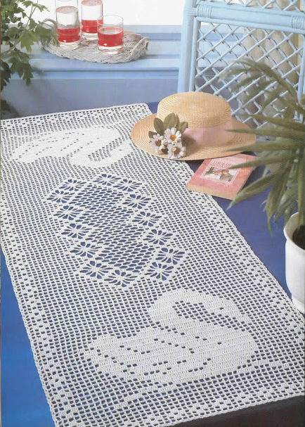 Gliding swans filet crochet free pattern and chart doilies gliding swans filet crochet free pattern and chart ccuart Images