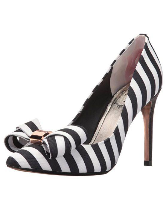06da0995e44 Ted Baker Ichlibi Black Cream Dress Pump Sapatos