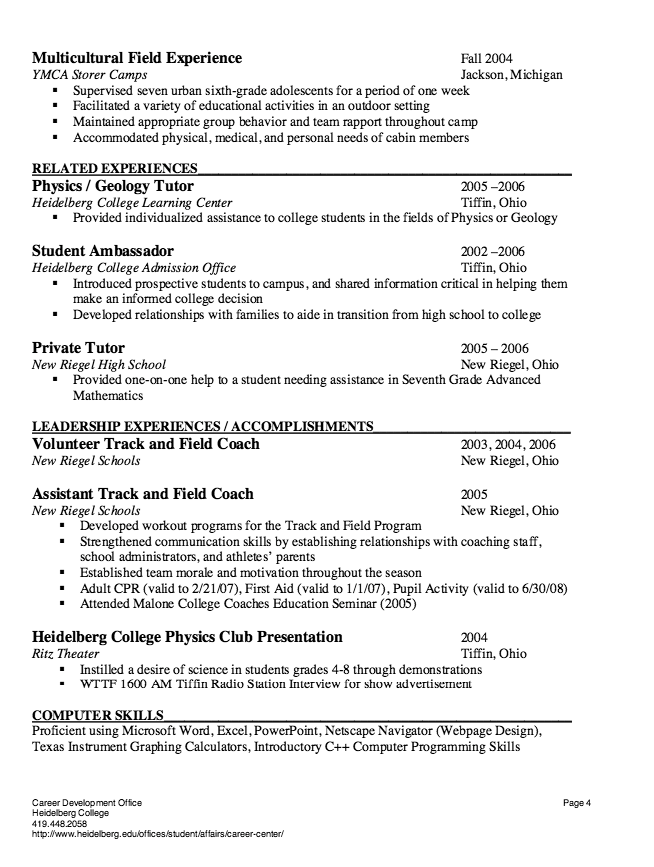 Student Affairs Resume Substitute Teacher Resume Sample  Httpresumesdesign