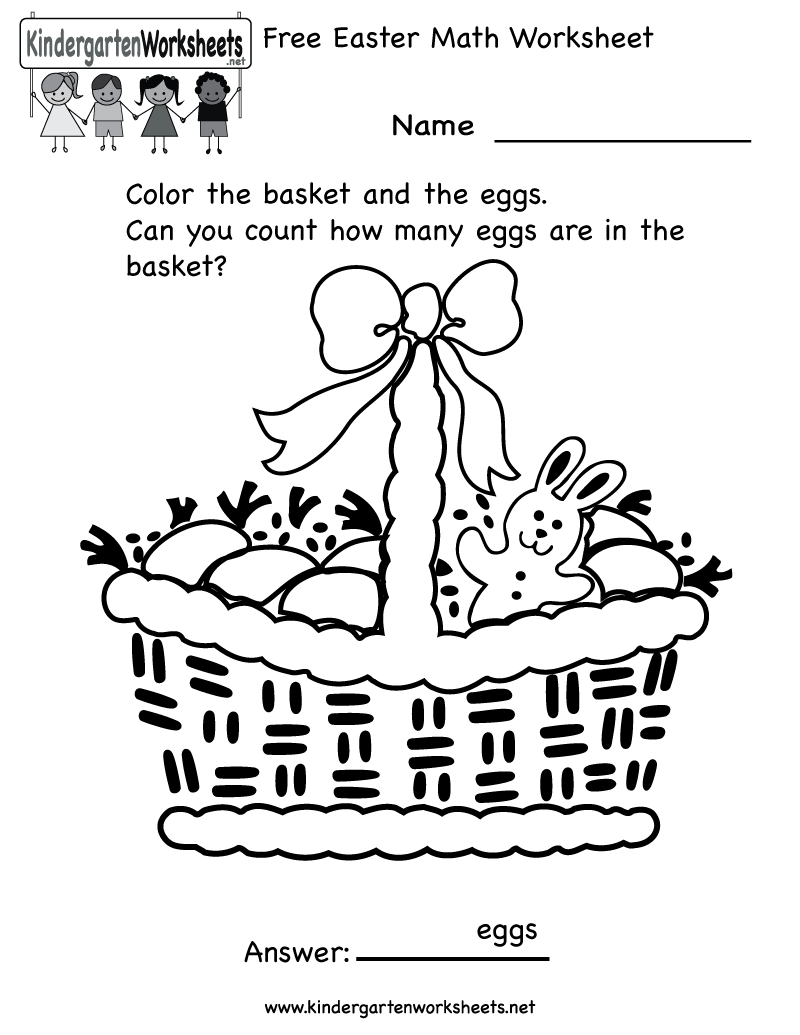 worksheet Free Easter Worksheets easter activity sheets for preschool kindergarten math find this pin and more on coloring worksheet free