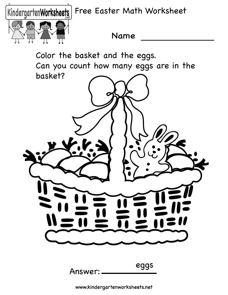 Easter Activity Sheets For Preschool Kindergarten Easter Math