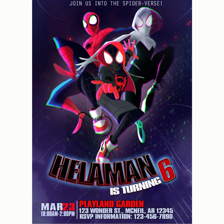 Pin By Rocio Rodriguez On Anthony S Birthday Spiderman Birthday Invitations Superhero Birthday Invitations Spiderman Birthday