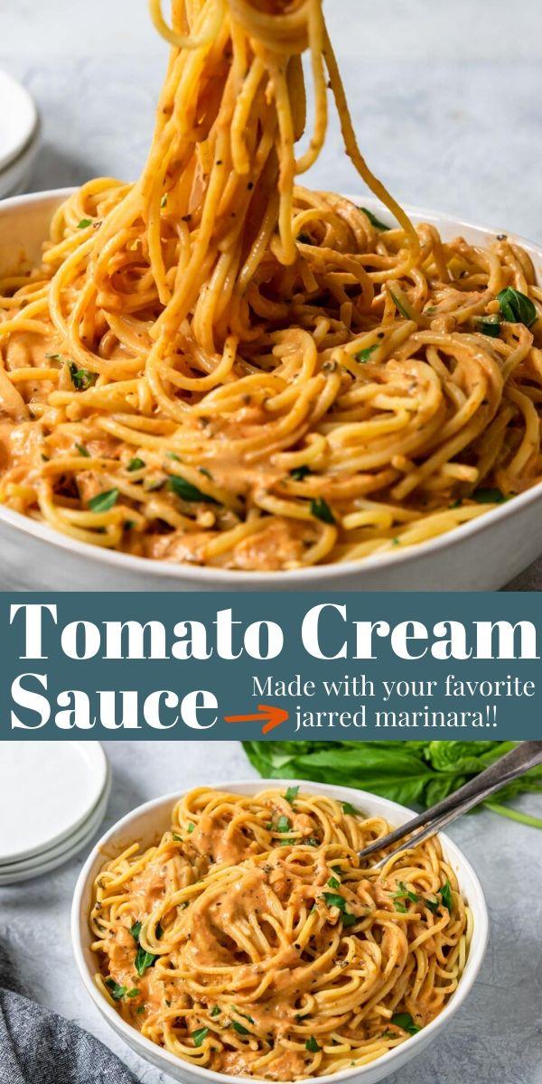 Tomato Cream Sauce for Pasta