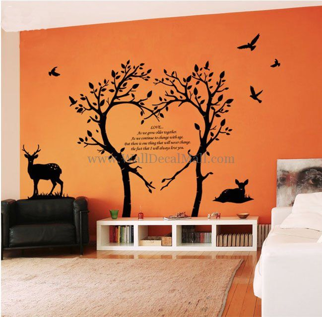 Bambi Love Tree Wall Decals WallDecalMallcom Tree Wall Decal - Wall decals of trees