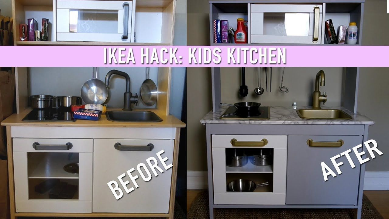 IKEA Hack DIY Kids Kitchen Set YouTube Kitchen sets