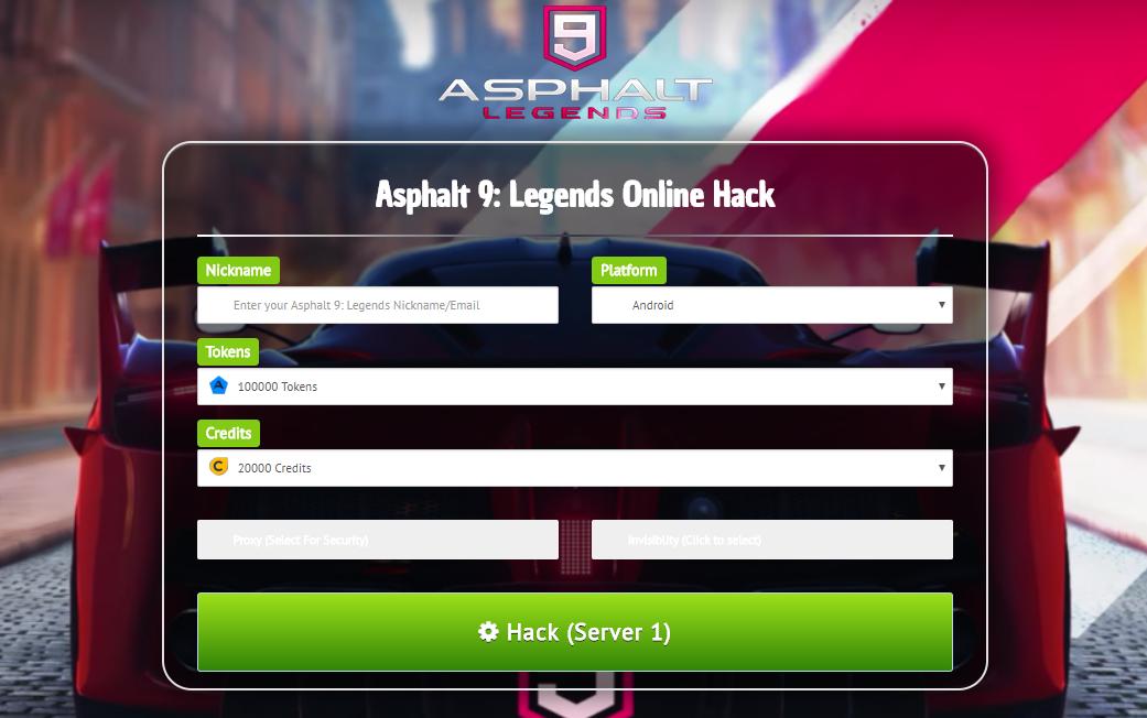 Asphalt 9 Legends Hack Credits Tokens (With images) | Tool