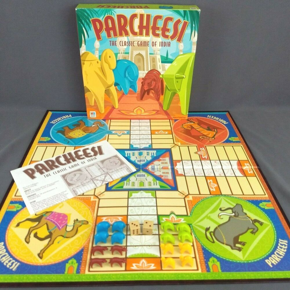 2001 Parcheesi The Classic Game of India Milton Bradley